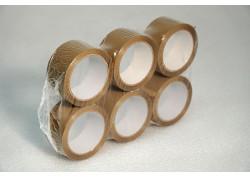 CINTAS PVC MARRÓN 32 MICRAS ADHESIVO VOLVENTE 50 mm 66 ml