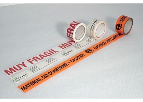 CINTA PVC BLANCA IMPRESA UNA TINTA 50 mm 132 ml