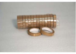 CINTAS PVC MARRÓN 32 MICRAS ADHESIVO VOLVENTE 19 mm 66 ml
